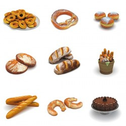 Bibliothèque Dosch 3D : Bakery Products.