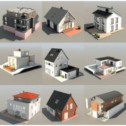 Bibliothèque Dosch 3D : European houses.