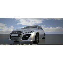Audi A6 free car sky scene