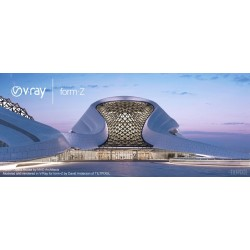 Harbin Opera House by MAD architects. Rendu avec V-Ray pour form.Z.