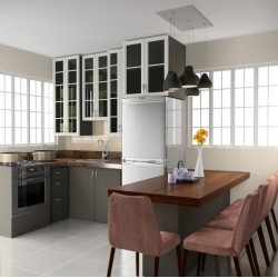 Kitchen/Dining Interior by Jovello T. Gomez Jr. Créé avec Rhino, rendu avec Flamingo.