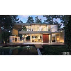 House exterior by Tiltpixel. Rendu avec V-Ray pour SketchUp.